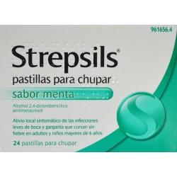 STREPSILS 24 PASTILLAS SABOR MENTA
