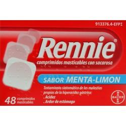 RENNIE SABOR MENTA-LIMÓN 48 COMPRIMIDOS BAYER