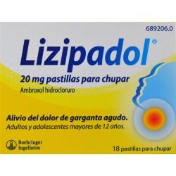 LIZIPADOL 20 MG 18 PASTILLAS PARA CHUPAR BOEHRINGER INGELHEIM