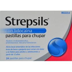 STREPSILS CON LIDOCAÍNA 24 PASTILLAS