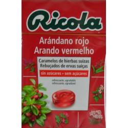 CARAMELOS DE HIERBAS SUIZAS ARÁNDANO ROJO RICOLA