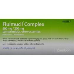 FLUIMUCIL COMPLEX 500 MG/200 MG 12 COMPRIMIDOS EFERVESCENTES ZAMBON
