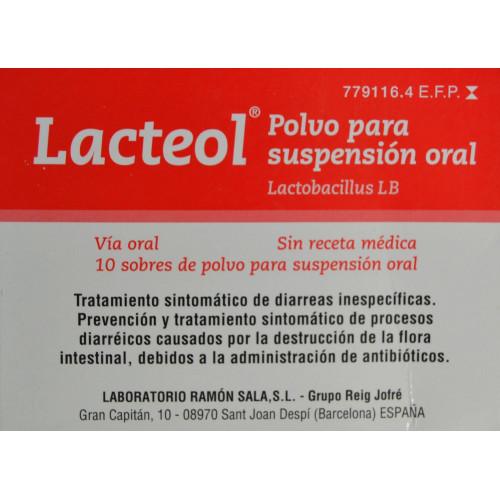 LACTEOL 10 SOBRES DE POLVO PARA SUSPENSIÓN ORAL