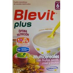BLEVIT PLUS MULTICEREALES CON FRUTOS SECOS, MIEL Y FRUTAS DESDE LOS 6 MESES 300 G ORDESA