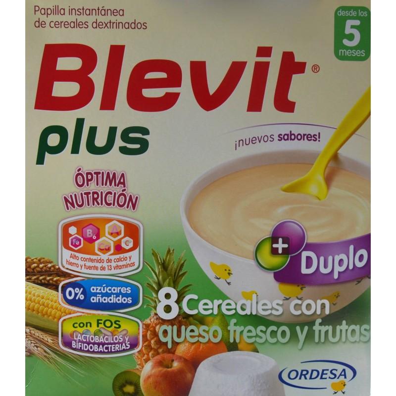 Blevit plus 8 cereales con queso fresco y frutas desde los 5 meses 2 x 300 g ordesa farmacia - Cereales bebe 5 meses ...
