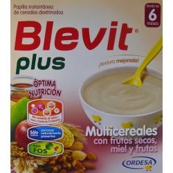 BLEVIT PLUS MULTICEREALES CON FRUTOS SECOS, MIEL Y FRUTAS DESDE LOS 6 MESES 2 X 300 G ORDESA