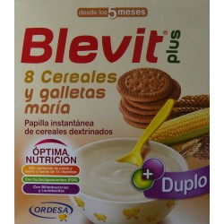 BLEVIT PLUS 8 CEREALES Y GALLETAS MARÍA DESDE LOS 5 MESES (2 X 300 G) ORDESA