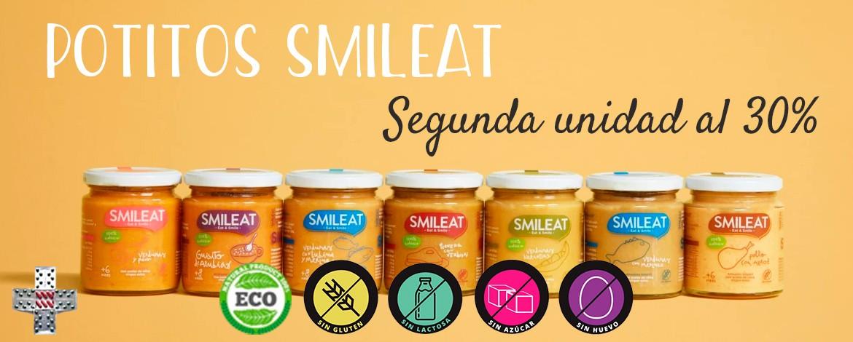 Promoción potitos SMILEAT - segunda unidad al 30%
